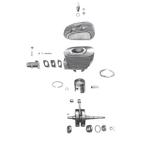 1 - Cylindre, piston, vilebrequin