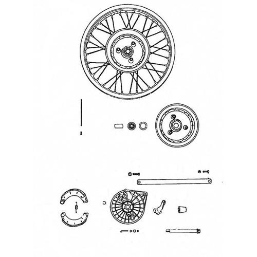 7 - Roue arrière moyeu frein