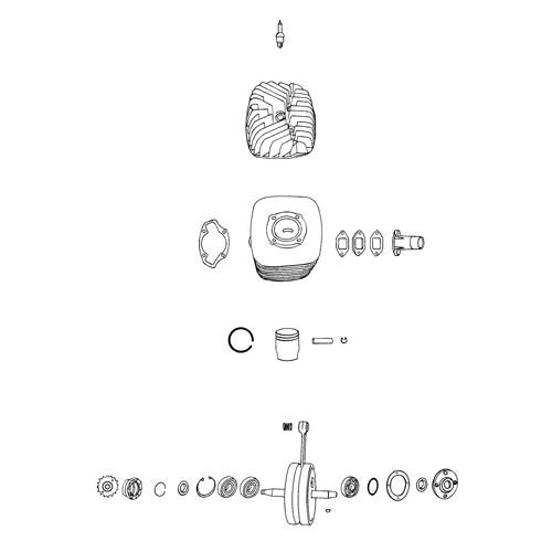 19 - Cylindre, piston, vilbrequin