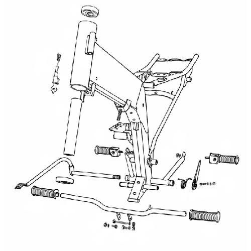 2.1 - Repose-pieds, frein arrière