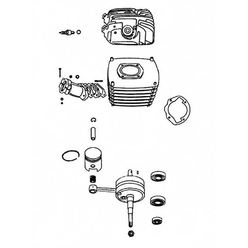 18 - Cylindre, piston, vilebrequin