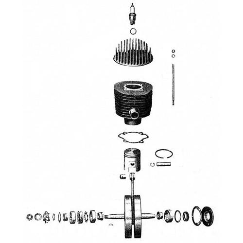 Cylindre, piston, vilebrequin RT 125/1 125/2