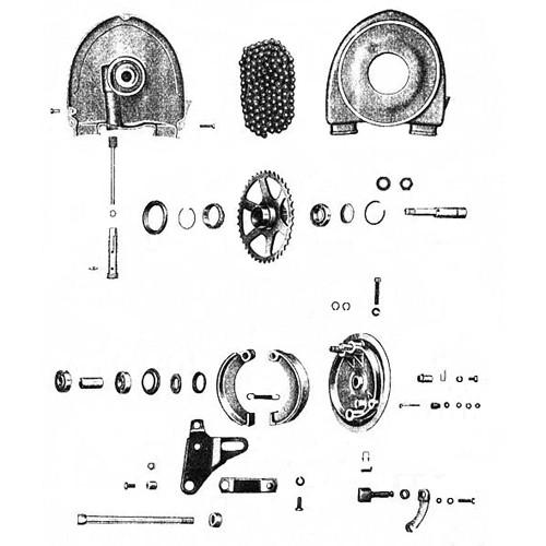 Motricité roue arrière, moyeu arrière RT 125/1 125/2