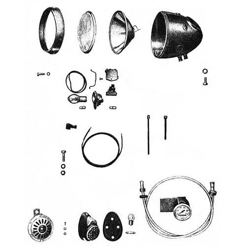 Phare, compteur,claxon, bobine d'allumage, variateur