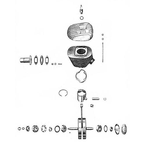 1 - Cylindre Piston Vilebrequin