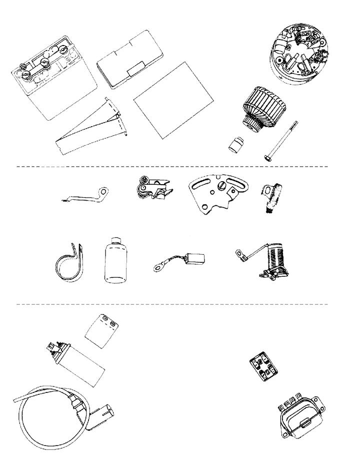 13 - Batterie, dynamo, bobine, régulateur