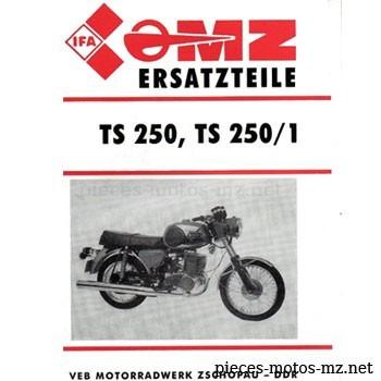 Catalogue de pièces MZ TS 250 250/1 - DE