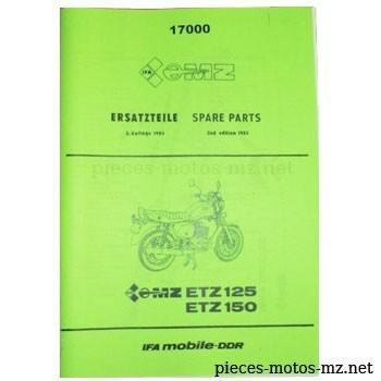 Catalogue de pièces MZ ETZ 125 150 - 1985 - DE