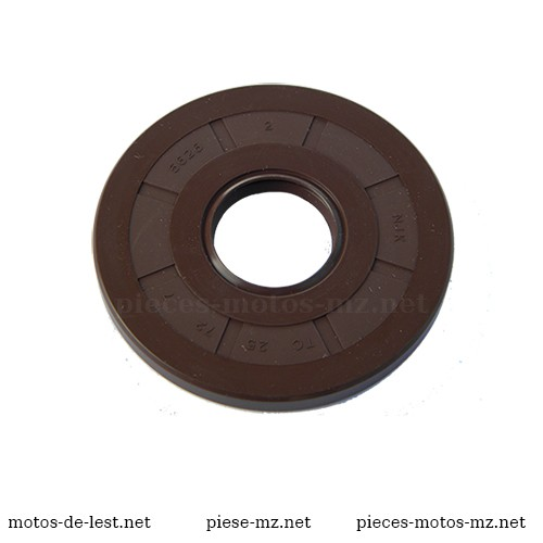 Joint SPI NJK 25x72x7 Viton marron MZ MZ TS 250, TS 250-1, MZ ETZ 250, MZ ETZ 251, MZ ETZ 301 - 96-59.373