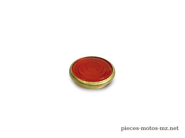 Verre lampe témoin rouge cerclage cuivre  MZ RT BK Simson
