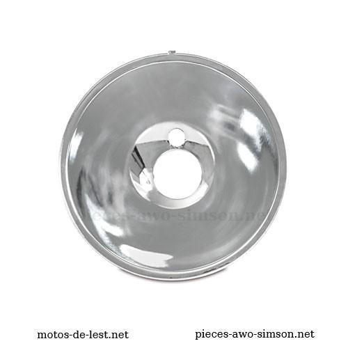 Réflecteur phare diam. 169 mm motos IFA BK 350, MZ ES 175/2, MZ ES 250/2, MZ ETS 125 (1969), MZ ETS 150 (1969), MZ ETS 250, marque Hella (DE)