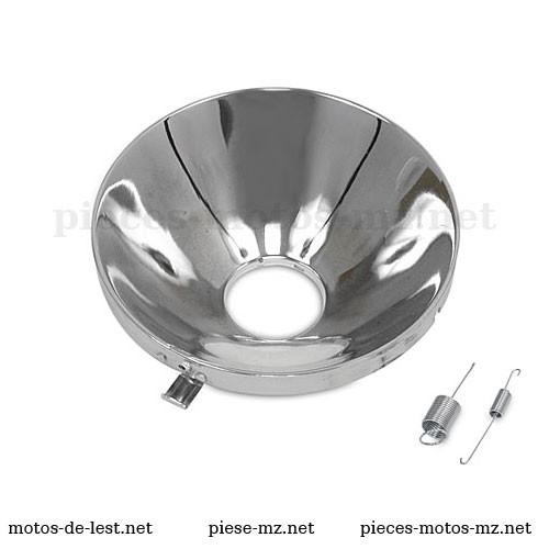 Réflecteur phare MZ ES 175 250 300 avec ressorts fixation - 8706.2-210