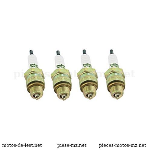 PAck 4 bougies d'allumage Béru PM 14-145 Isolator Spezial pour motos MZ ES, MZ TS, MZ ETS, MZ ETZ