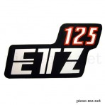 Autocollant ETZ 125 boîte latérale