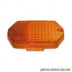 Cabochon orange hexagonal clignotant MZ ETZ (PL)