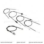Set 5 câbles de commande, noirs, MZ TS 250 250/1, guidon plat (EU)