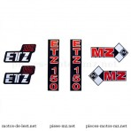 Set autocollants MZ ETZ 250 (HU)