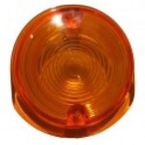 Cabochon orange rond de clignotant avant MZ TS, MZ ETZ, Référence MZ 8580.23-001/1