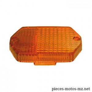 Cabochon orange hexagonal clignotant MZ ETZ - Références MZ 80-50.540, 8580.34-001/1, 8580.34-002/1