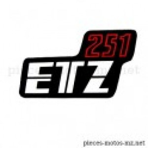 Autocollant ETZ 251 boîte latérale MZ ETZ 251