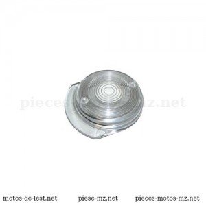 Cabochon transparent rond de clignotant avant MZ TS, MZ ETZ - 07071,8580230011, 8580.23-001/1