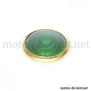 Verre lampe témoin vert cerclage cuivre MZ RT BK Simson