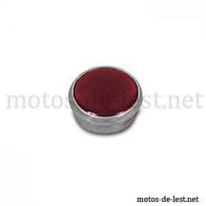Verre lampe témoin rouge cerclage aluminium MZ RT BK Simson