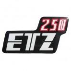 Sticker for side cover MZ ETZ 250